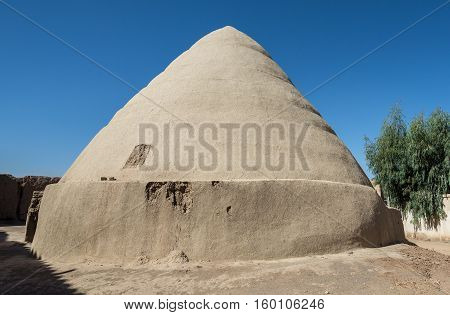 Characteristic ice house construction called Yakhchal in Kashan Iran