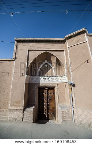 example of traditional house in Kashan Iran