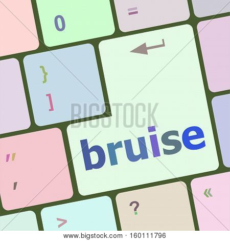 Button With Bruise Word On Computer Keyboard Keys