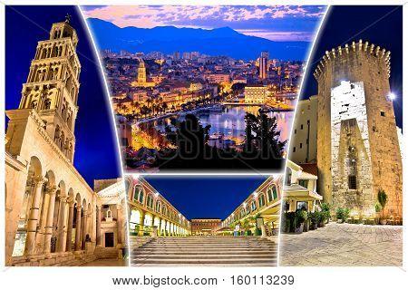City Of Split Evening View Postcard