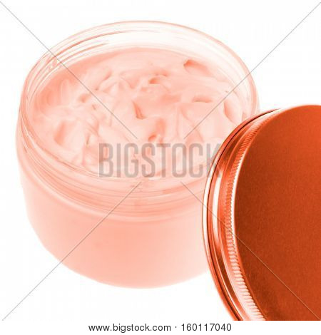 cosmetic cream in container isolated on white background