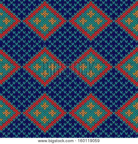 Seamless Knitted Rhombus Pattern