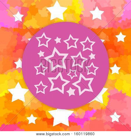Magic background with ball and white stars