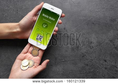 Modern technology and online transaction concept