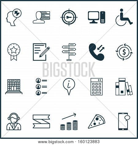 Set Of 20 Universal Editable Icons. Can Be Used For Web, Mobile And App Design. Includes Elements Such As Keyword Marketing, Money Recycle, Accessibility And More.