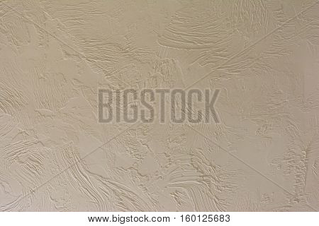 The rectangular background. Uneven texture stucco. Rough coating.