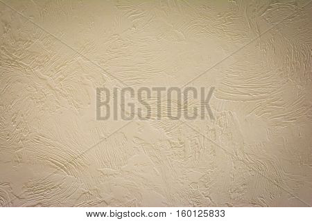 Painting imitates stucco. Horizontal background. The rough texture. Vignette.