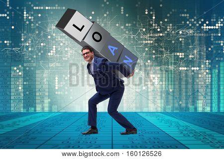 Man under the burden of loan