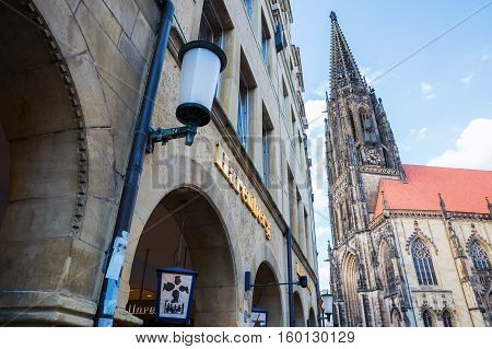 Prinzipalmarkt In Muenster, Westphalia, Germany