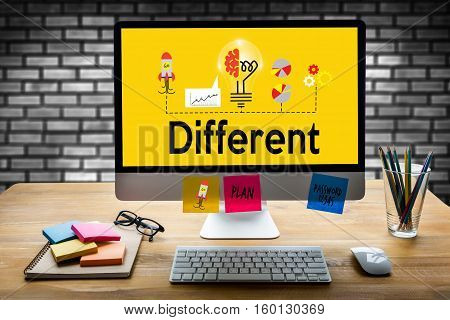 Unique Different Being Different Concept , Make A Difference , Just One Looked Different , Way Diffe