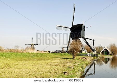 Wooden mills from Holland