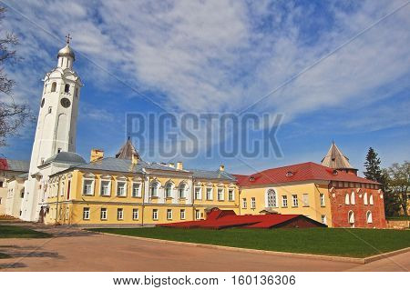 Clock tower in Kremlin, Veliky Novgorod, Russian Federaion