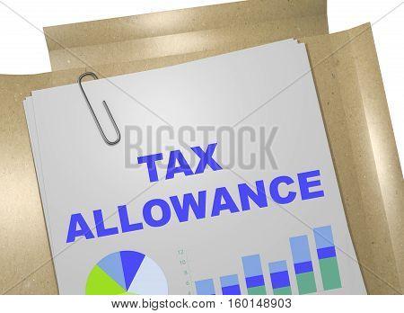 Tax Allowance - Business Concept