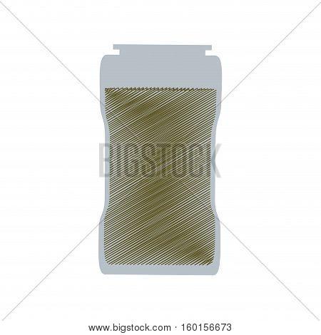 glass jar condiment kitchen design vector illustration eps 10