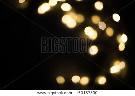 Abstract blur lighting decoration on Christmas party. Backdrop Texture Night 2017 Candlemas Light Xmas new year concept.
