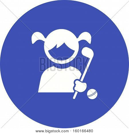 Hockey, playing, field icon vector image. Can also be used for kids. Suitable for web apps, mobile apps and print media.