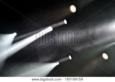 Professional stage lights during an entertainment event