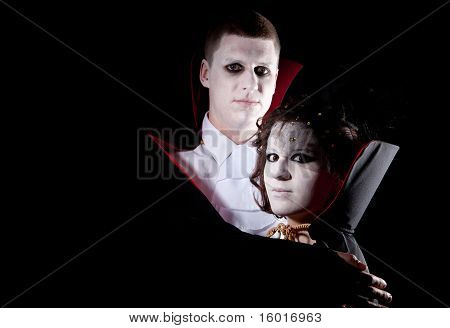 Vampire Couple Portrait