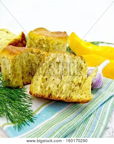Scones Pumpkin With Garlic And Dill On Board