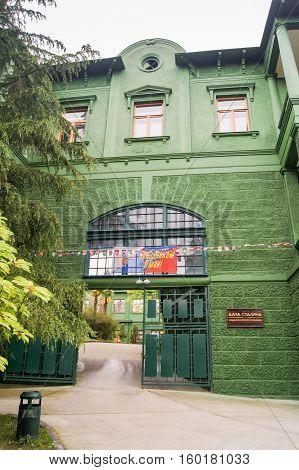 Sochi, Russia - 7 May, Gateway Stalin's dacha, 7 May, 2016. Stalin's dacha in the sanatorium Green Grove.