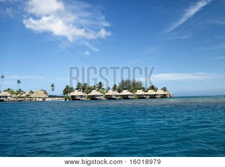 Bungalows in Moorea, French Polynesia