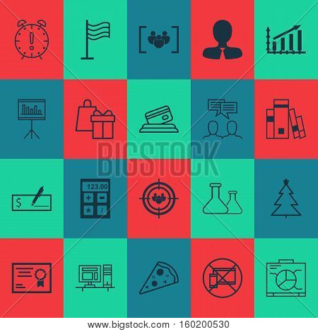 Set Of 20 Universal Editable Icons. Can Be Used For Web, Mobile And App Design. Includes Elements Such As Focus Group, Sliced Pizza, Credit Card And More.