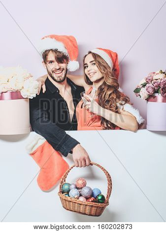 Christmas Couple With Decoration