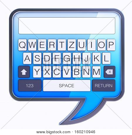 3D rendering of a text message concept