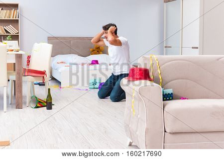 Man scared after the christmas party