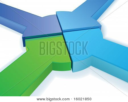 Equal Partnership pie chart vector concept