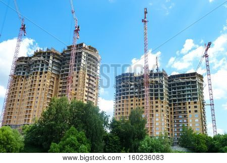 construction of multi-storey monolithic house jib cranes