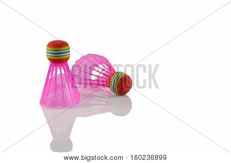 Badminton Shuttlecocks Isolated On White
