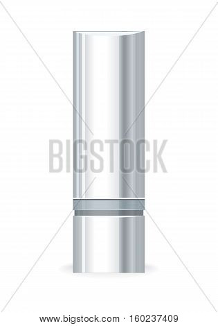 Hand cream gel bottle isolated on white. Empty cosmetic product tube. Reservoir without label. No logo or trademark on flask. Part of series of decorative cosmetics items. Vector illustration