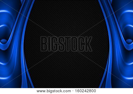 Blue And Black Metal Background