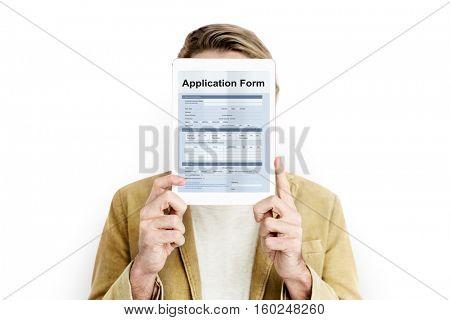 Application Form Document Page Concept