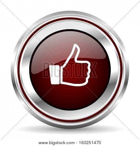 like icon chrome border round web button silver metallic pushbutton