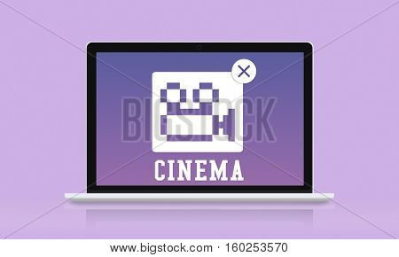 Movie Entertainment Camera Icon Concept