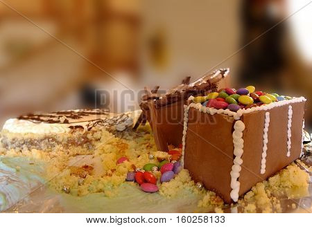 birthday cake shaped like a pirate chest