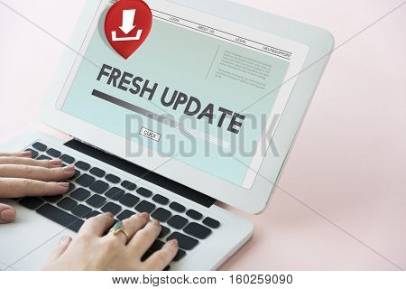 Fresh Update Download Application Concept