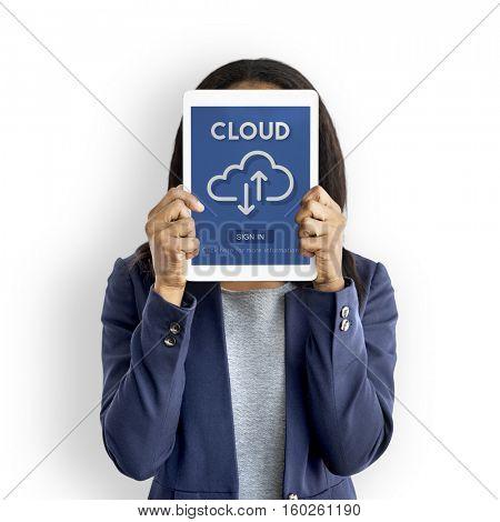 Cloud Storage Internet Tool Concept