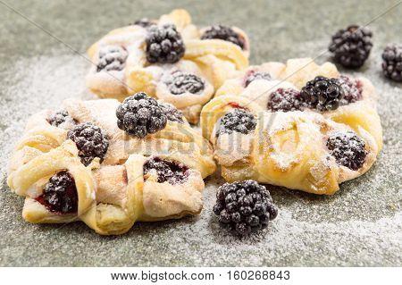Blackberry Puff Pastry