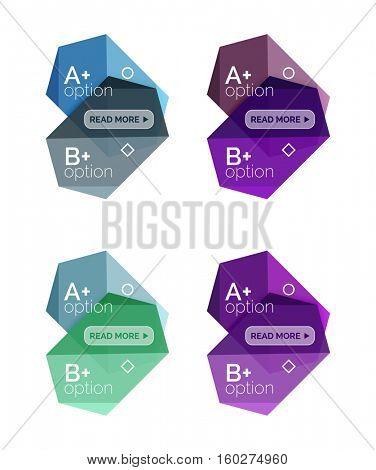 Vector geometric option infographic templates