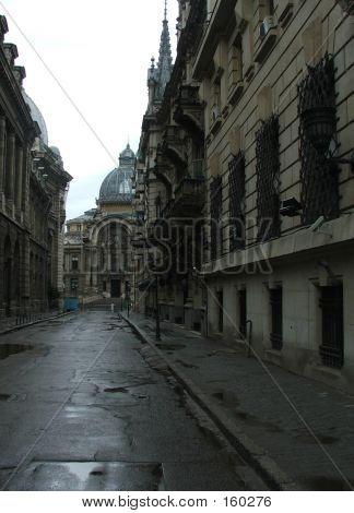 Wet Empty Street