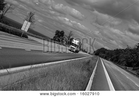 trucking on scenic highway