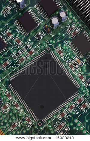 close up image of processor as background
