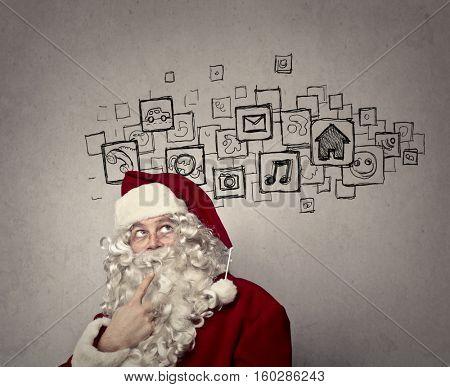 Santa's ideas on the wall