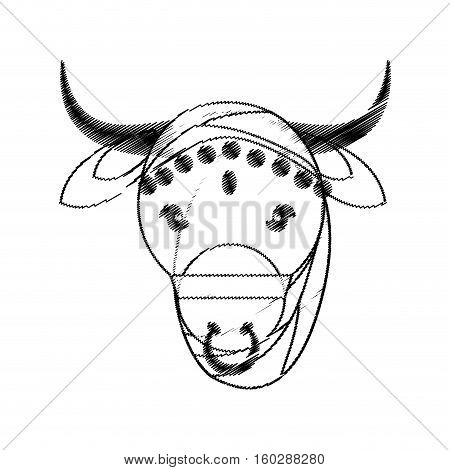 head indian sacred cow fertility and maternity symbol vector illustration eps 10