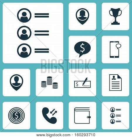 Set Of 12 Hr Icons. Can Be Used For Web, Mobile, UI And Infographic Design. Includes Elements Such As Cup, Success, Phone And More.