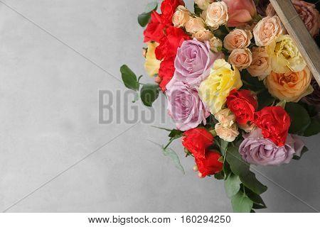 Beautiful flowers, top view