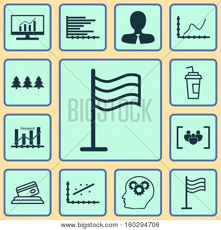Set Of 12 Universal Editable Icons. Can Be Used For Web, Mobile And App Design. Includes Elements Such As Holiday Ornament, Keyword Optimisation, Achievement Graph And More.